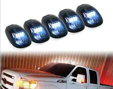 5x Smoked Lens White LED Roof Truck SUV Cab Marker Running Lamp Clearance Light