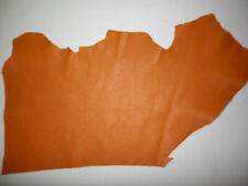 """Tan Cowhide Upholstery Leather Scraps 8.5""""x13"""" avg 1.1mm thick #9110"""