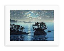 PAESAGGIO Japan futago Island mammari hasui MOON NATURA stampe su tela art