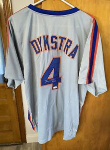 New York Mets OF LENNY DYKSTRA  Autographed Custom Jersey JSA  NAILS INSCRIPTION