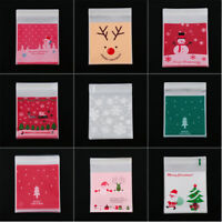 Party Supplies Snowman Xmas Candy Bags Christmas Bake Cookies Self-adhesive