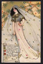 c1908 Schmucker Fairy Queen series Philomeis by Byron Mottoes postcard