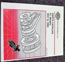 1981-1984 Harley Davidson FL FLH Electra Glide Parts Catalog Manual 1982 1983