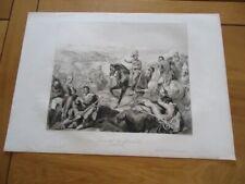 RARE GRAVURE  42X30 MILITARIA UNIFORME BATAILLE DE ZURICH 1799 MASSENA St-EMPIRE