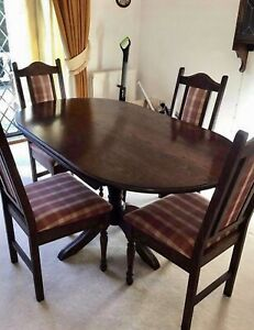 Old Charm Dining Table With 4 Chairs