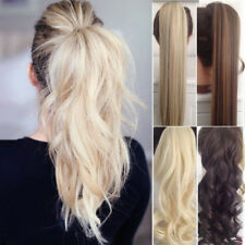 Flip + Clip in Ponytail Hair Extensions Extention as Natural Human Curly Wavy