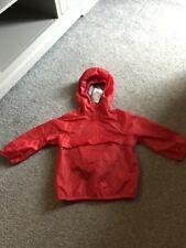 BNWT Next Red 'Cag In A Bag' Waterproof Coat 1.5-2 Years