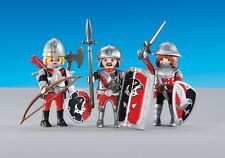 Playmobil 6381 3 Hawk Castle Knights Soldiers NEW Warriors