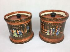 Antique / Vintage Royal Doulton, Old Moreton Tabacco Jars (pair)