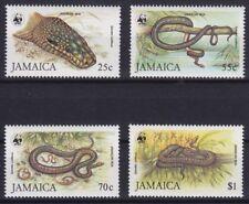 Jamaika Mi-Nr. 591 - 594 I **, WWF - Jamaika-Boa / Jamaican Boa (70 ME)
