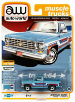Auto World Chevy Silverado 1976 Chevy Bonanza C10 Fleetside Blue Pickup 1/64