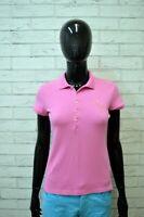 Polo RALPH LAUREN Donna Taglia S Shirt Manica Corta Maglia Rosa T-Shirt Elastica