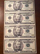Copy 1996 $50 Specimen Uncut Reproduction Currency Money Sheet