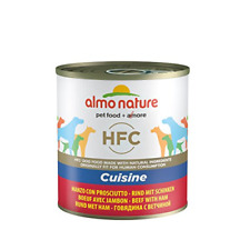 More details for almo nature hfc cuisine - beef and ham - wet dog food pack of 12 x 290g tins