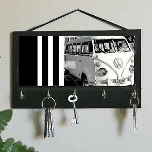 Kombi Van Print Key Rack Holder, Housewarming Gift, Old Time Car Gift