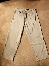 Eddie Bauer Khaki Pants Tan Chinos Vintage Mens Size 36/30 Cotton