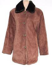 VTG Brown 100% Real Suede SINCLAIR Hip Length Ladies Coat Jacket Size UK 12 UK14