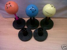 Set of 5 Black Dual Purpose Rubber Golf Driving Range Tees-Home Range-Winter Tee
