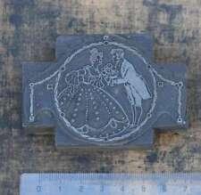 """""""DAS PAAR"""" Jugendstil Druckstock Klischee Druckplatte Art Nouveau 1900 Verehrer"""