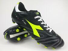 Diadora Mens Rare Italica K-Pro MG 14 158441 Black Yellow Soccer Cleats Size 10
