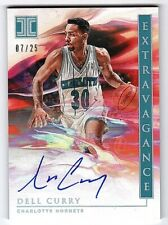 2019-20 Panini Impeccable Extravagance Holo Silver Dell Curry Auto #/25 (r 0073)