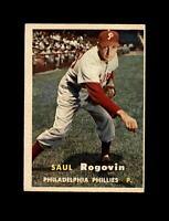 1957 Topps Baseball #129 Saul Rogovin (Phillies) EXMT