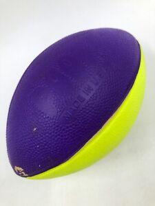 "Poof Mini Foam Football Yellow & Purple Made In USA - Floats - Pool Ball 5.5"""