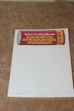 Pillsbury Stationary - 1986 BALLARD PRE-PRICED BISCUITS - New