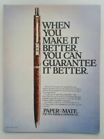 1982 Paper Mate PowerPoint Pen Writing Ink Pump Vintage Magazine Print Ad