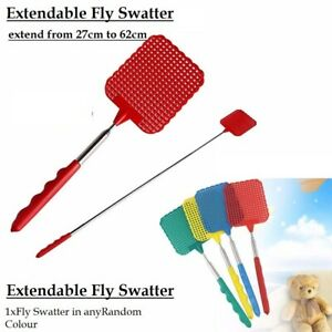 EXTENDABLE FLY SWATTER NEW TELESCOPIC INSECT SWAT BUG-MOSQUITO,WASP-KILLER HOUSE
