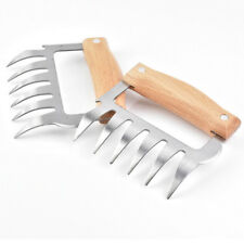 2pcs Griffes de Viande Fourchettes Pince Barbecue Ours Empreintes