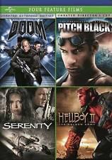 Doom/Pitch Black/Serenity/Hellboy Ii (Dvd, 2014, 4-Disc Set) New