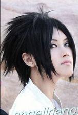 Kuroshitsuji wig Short Naruto Uchiha Sasuke black cosplay wigs +hairnet