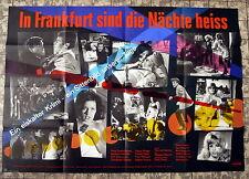 BARBARA VALENTIN * In Frankfurt sind die Nächte heiss  - EA- A0-Kinoposter  1966