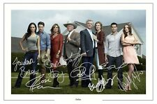 DALLAS CAST AUTOGRAPH SIGNED PHOTO PRINT JR EWING JORDANNA BREWSTER ETC