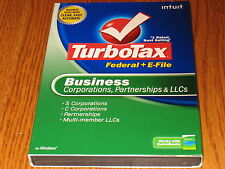 2008 TurboTax  BUSINESS Federal Turbo Tax New CD sealed in retail Box