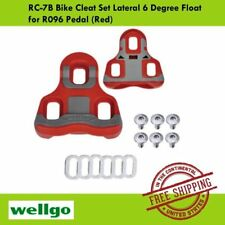 Wellgo RC-7B Bike Cleat Set Lateral 6 Degree Float  for R096 Pedal (Red)