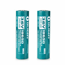 Olight 18650 3.6V 3400mAh Rechargeable Li-ion Protected Battery ORB-186L34 x 2