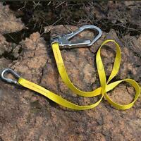 22KN Rock Tree Climbing Protection Harness Belt Safety Strap Rescue Landyard