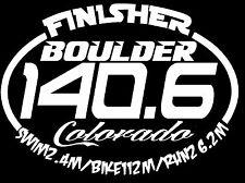 2017 Or Any year Ironman B0Ulder Colorado Triathlon Finisher Decal Sticker