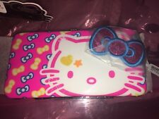 HELLO KITTY Pink Hinge WALLET Hinged Girls Accessories BOW ACCENT