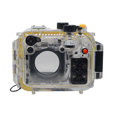 Mcoplus 40m/130ft Underwater Housing Waterproof Camera Case for Canon G15