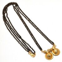 Gold Plated Mangalsutra Chain Pendant Real Look katori South Indian Pendant