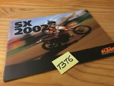 KTM gamme cross 2002 SX 125 250 380 400 520 moto prospectus catalogue