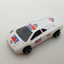 Lamborghini Diablo White Pepsi Majorette #219 1/58 Scale   Diecast Car No box