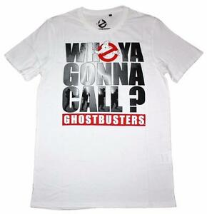 Ghostbusters Who Ya Gonna Call ? - Men's white t shirts