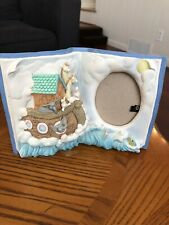 """Russ """"The Story of Noah's Ark"""" Baby Picture 3 1/4"""" x 2 1/2"""" Oval Photo Frame"""