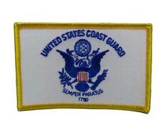 U.S. Military Uscg Coast Guard Flag Wholesale lot of 3 Iron On Patch