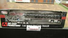 DCP #33403 OWNER OPERATOR PETE 379 SEMI&COVERED WAGON FLAT BED TRAILER 1:64/FC