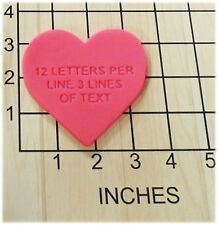 Personalized Heart Shape Fondant Cookie Cutter and Stamp Valentine #1131